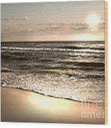 Golden Shoreline Wood Print by Jeffery Fagan