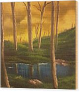Golden Sky Delight Wood Print by Ricky Haug