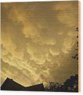 Golden Sky's Wood Print