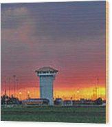 Golden Spike Sunset Panorama Wood Print