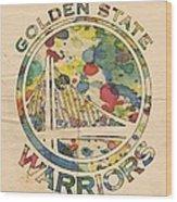 Golden State Warriors Logo Art Wood Print