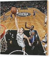 Golden State Warriors V Brooklyn Nets Wood Print