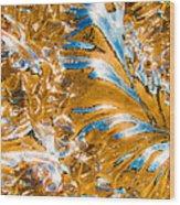 Golden Steel Swirl Wood Print