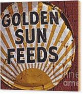Golden Sun Feeds Wood Print