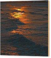 Golden Sun Set Wood Print