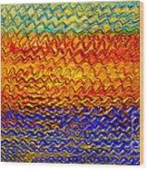Golden Sunrise - Abstract Relief Painting Original Metallic Gold Textured Modern Contemporary Art Wood Print