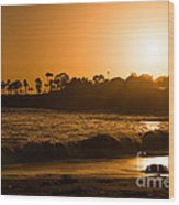 Golden Sunset At Laguna Wood Print