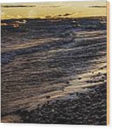 Golden Superior Shore Wood Print