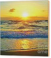 Golden Surprise Sunrise Wood Print
