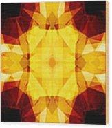 Golden Textured Triangles Wood Print