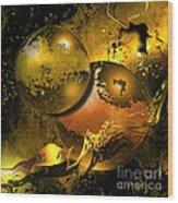 Golden Things Wood Print by Franziskus Pfleghart