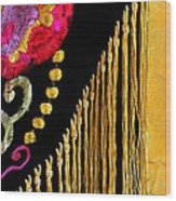 Golden Threads Wood Print