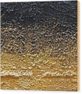 Golden Time - Abstract Wood Print by Ismeta Gruenwald