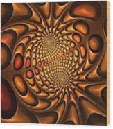 Golden Vortex Wood Print