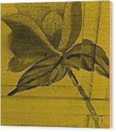 Golden Wood Flower Wood Print
