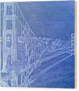 Golder Gate Bridge Inverted Wood Print