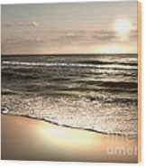 Goldest Shoreline Wood Print by Jeffery Fagan