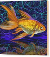 Goldfish Electric Wood Print