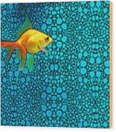 Goldfish Study 3 - Stone Rock'd Art By Sharon Cummings Wood Print