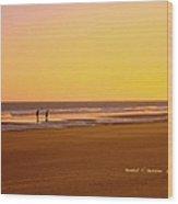 Goldlen Shore At Isle Of Palms Wood Print