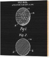 Golf Ball Patent 1906 - Black Wood Print