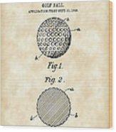 Golf Ball Patent 1906 - Parchment Wood Print