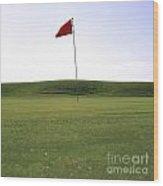 Golf Wood Print by Bernard Jaubert