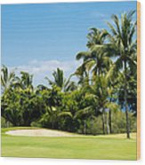 Golf Course Wood Print