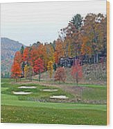 Golf Course At Lake Toxaway Wood Print