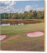 Golf Course Beautiful Landscape On Sunny Day Wood Print