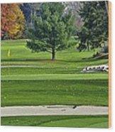 Golf Course Guardians Wood Print