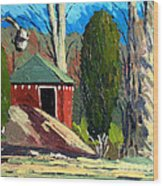 Golf Course Shed Series No.14 Wood Print