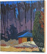 Golf Course Shed Series No.2 Wood Print