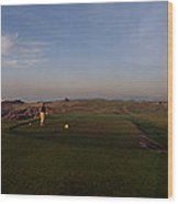 Golf Course With A Lighthouse Wood Print
