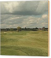 Golf Course With Clouds Wood Print