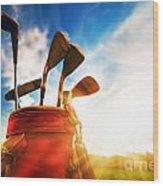 Golf Equipment  Wood Print