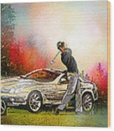 Golf In Gut Laerchehof Germany 03 Wood Print