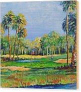 Golf In The Tropics Wood Print