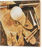Golf Memorabilia Wood Print