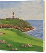 Golf Old Head Of Kinsale Wood Print