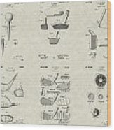 Golf Patent Collection Wood Print