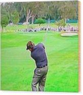 Golf Swing Drive Wood Print