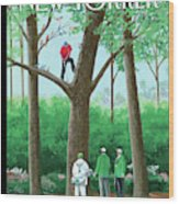 Golfer Making A Shot In A Tree While Different Wood Print