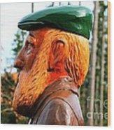 Golfer Profile Wood Print