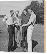 Golfers, 1938 Wood Print