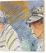 Golfers In Soufflenheim 02 Wood Print