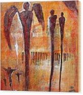 Golgotha Petroglyph Wood Print