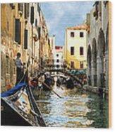 Gondola 158-venice Wood Print