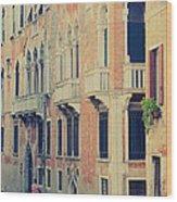 Gondola In Venice  Wood Print