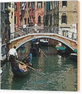Gondola Ride Wood Print